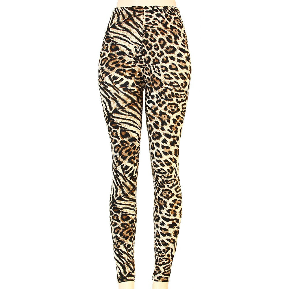 Variegated Animal Print  Leggings- One Size - g.e.llc•Style