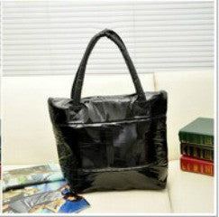 *Wet Look Puffer Quilted Tote Hand Bags - g.e.llc•Style