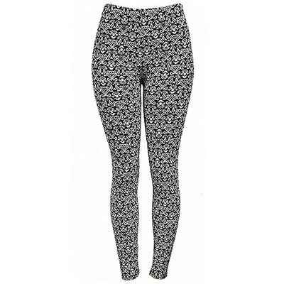 Black & White Floral Leggings- One Size