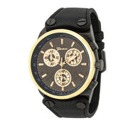 Men's Geneva Back & Goldtone Chronograph Watch - g.e.llc•Style