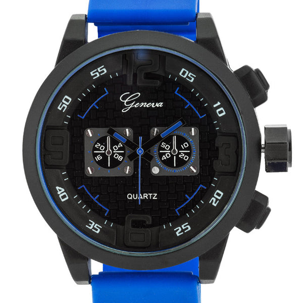 Men's Blue Silicone Chronograph Watch