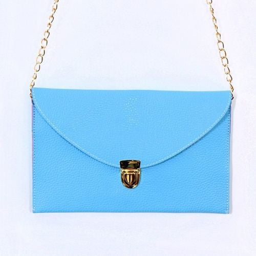 Envelope Style Clutch Purse Pocketbook Bag with Strap