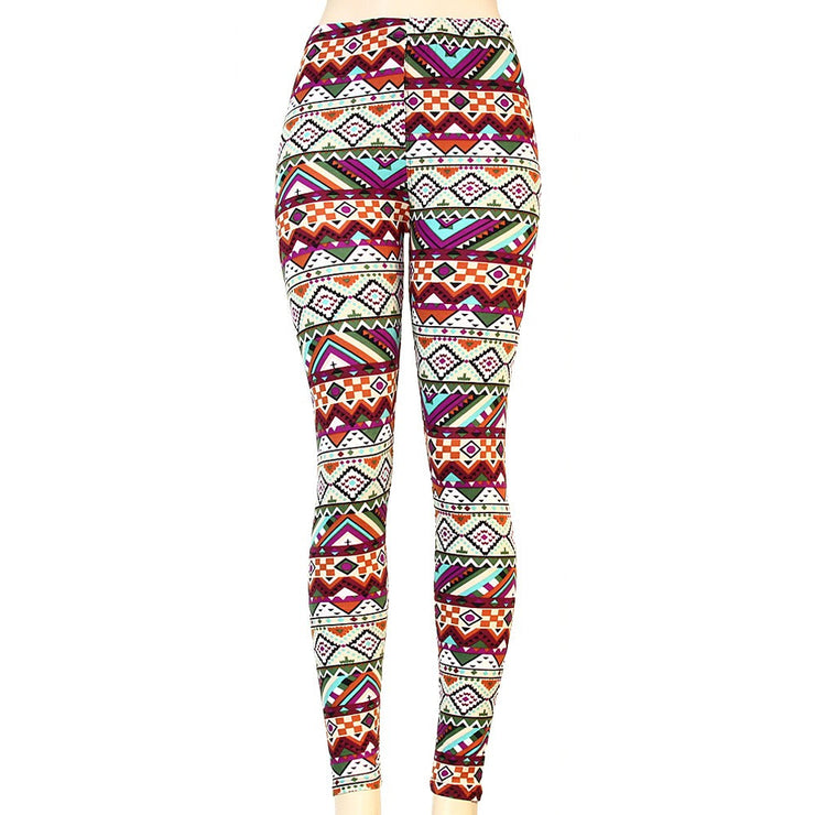 *Tribal Print Multicolor Leggings - g.e.llc•Style