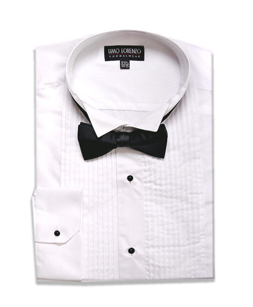 Ready to Wear Tuxedo Shirt with Black Bow Tie - g.e.llc•Style
