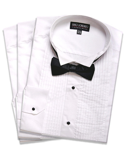 Ready to Wear Tuxedo Shirt with Black Bow Tie