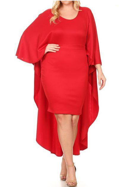 The Little Red Cape Dress