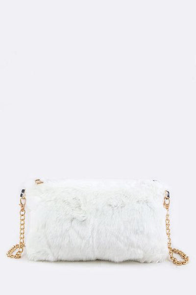 The White & Furry Crossbody Bag