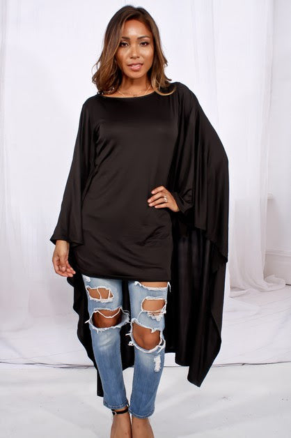 The Slouchy Drape Cape Top