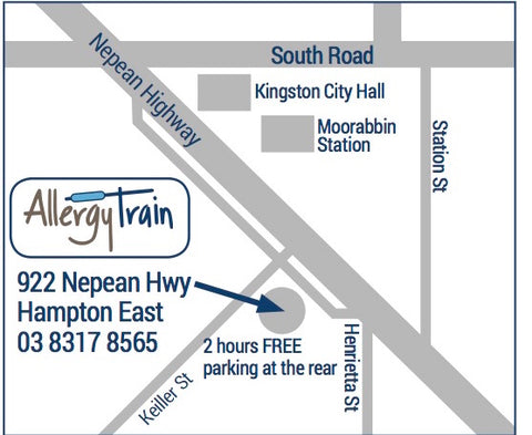 allergy train map