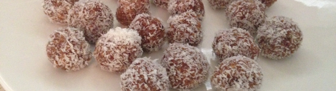 Lemon Cranberry Bliss Balls - Nut Free, Coat in coconut