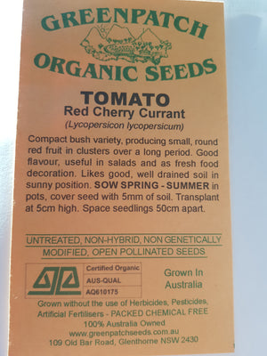 Green Patch Organic Seeds - Cherry Tomato