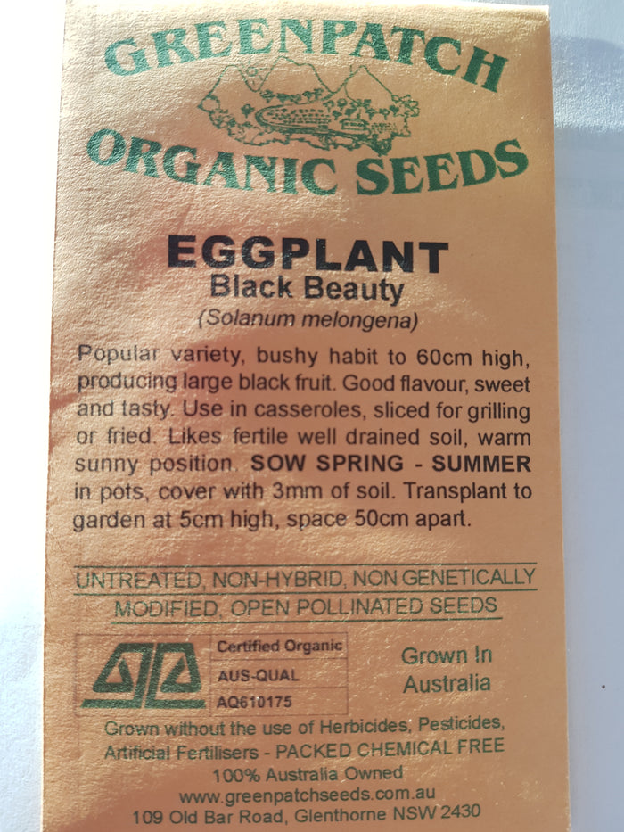 Green Patch Organic Seeds  - Eggplant