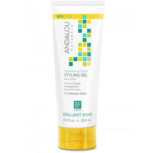 Andalou Naturals Sunflower & Citrus Brilliant Shine Hair Styling Gel 200ml