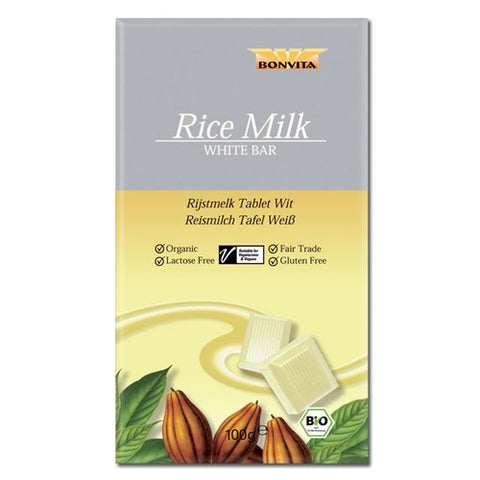 Bonvita White Rice Milk Chocolate Bar 100g