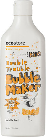 Ecostore Kids Double Trouble Bubble Make- Pear Pop 400ml