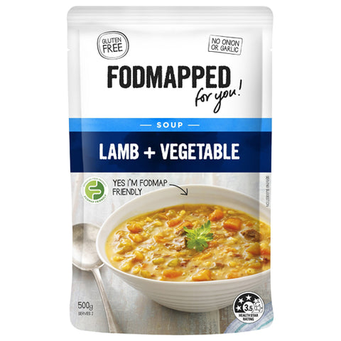 Fodmapped Lamb and Vegetable Soup