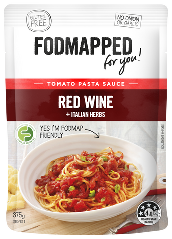 Fodmapped Red Wine and Italian Herbs Pasta Sauce 375g