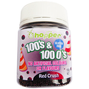 Hopper 100s and 1000s Red Crush 150g  Best Before 6/21