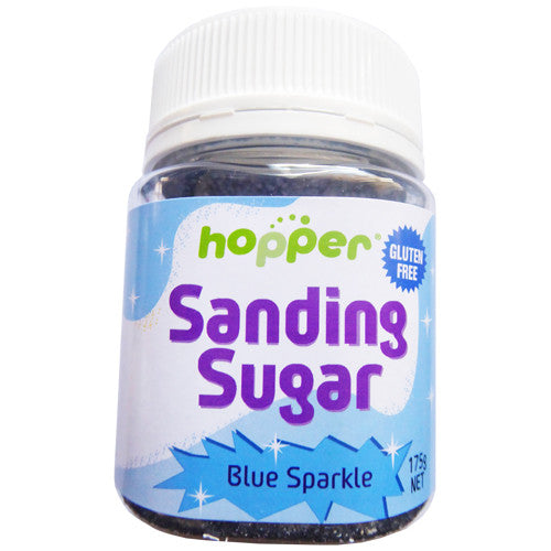 Hopper Sanding Sugar – Blue Sparkle 175g- CLEARANCE PRICE