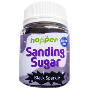 Hopper Sanding Sugar – Black Sparkle 175g - CLEARANCE PRICE