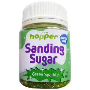 Hopper Sanding Sugar – Green Sparkle 175g -CLEARANCE PRICE