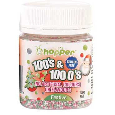 Hopper 100s and 1000s Festive - Red, Green, White 150g