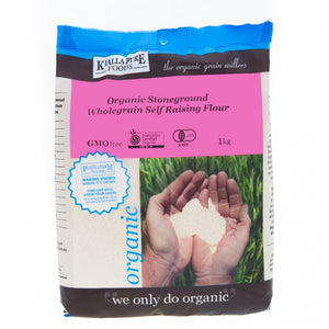 Kialla Pure Foods Organic Stoneground Wholegrain Self Raising Flour 1kg