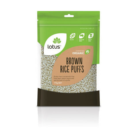 Lotus Organic Puffed Brown Rice 175g