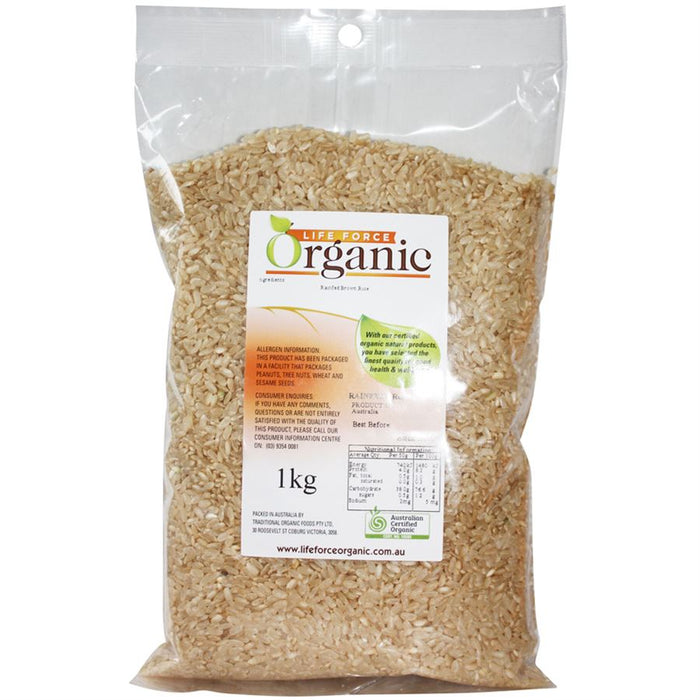 Life Force Organic Brown Rice 1kg