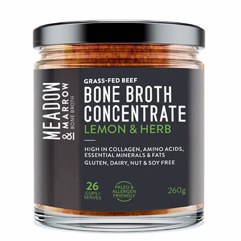 Meadow & Marrow Bone Broth Concentrate – Lemon & Herb 260g
