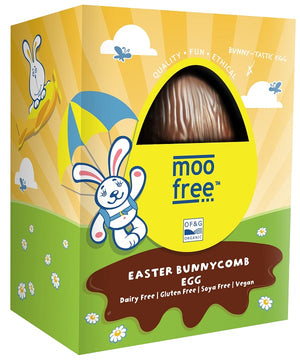 Moo Free Dairy Free Bunnycomb Easter Egg 120g - Available now