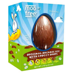 Moo Free Easter Egg Choccy Drops