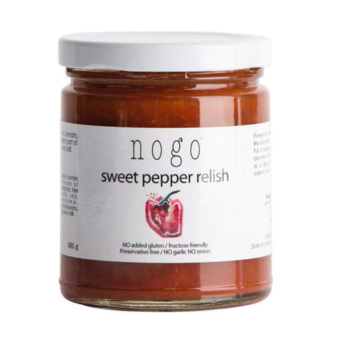 Nogo Sweet Red Pepper Relish – Fructose Friendly, Gluten Free