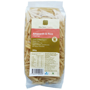 Olive Green Organics Amaranth and Rice Penne 300g