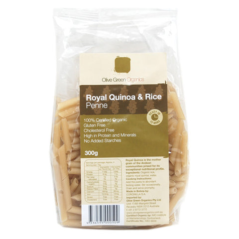 Olive Green Organics Quinoa and Rice Penne 300g