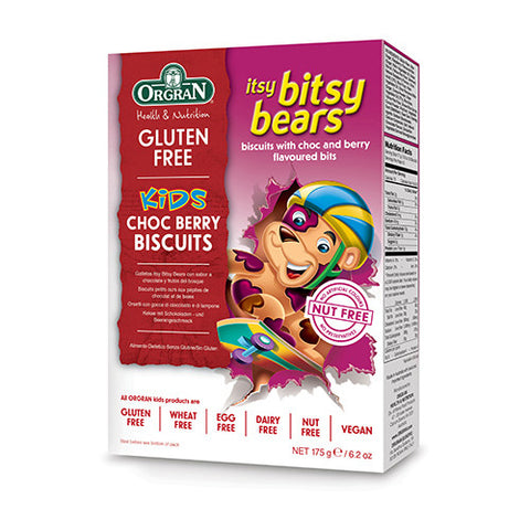 Orgran Itsy Bitsy Bears Choc Berry Cookies