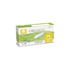 Organyc 100% Cotton Tampons – Regular – 16pk