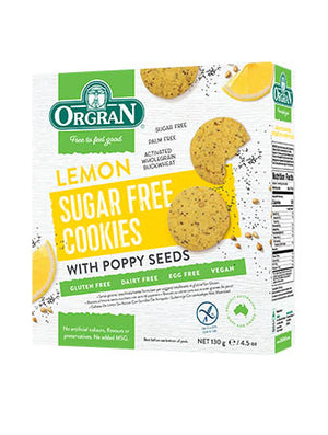 Orgran Lemon and Poppy Seed Cookies Sugar Free