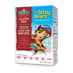 Orgran Itsy Bitsy Bears Choc Chip Cookies