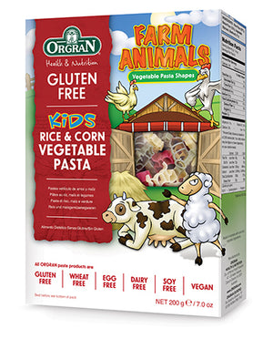 Orgran Farm Animals Rice and Corn Vegetable Pasta shapes 200g