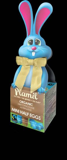 Plamil Organic Dairy Free Rice Milk Chocolate Half Eggs Bunny Box 65g - Available Now