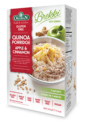 Orgran Quinoa Porridge Apple & Cinnamon