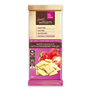 Sweet William White Chocolate with Strawberry.