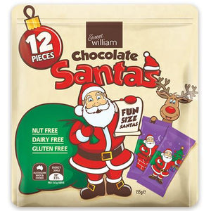 Sweet William Chocolate Santas - Below Cost