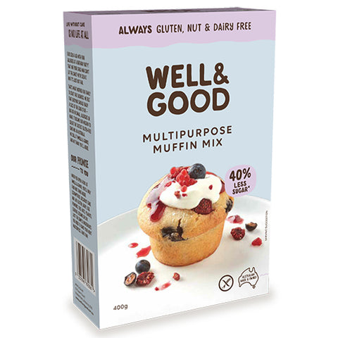 Well and Good Multipurpose Muffin Mix – Gluten, Nut & Dairy Free