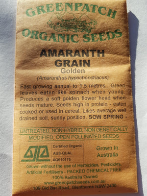 Green Patch Organic Seeds - Golden Amaranth