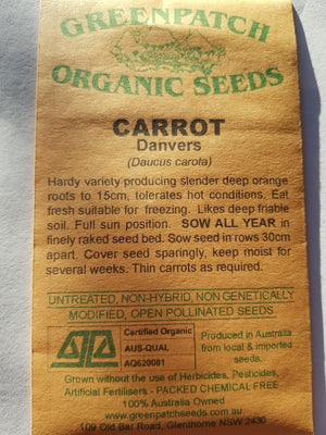 Green Patch Organic Seeds - Carrot (Danvers)