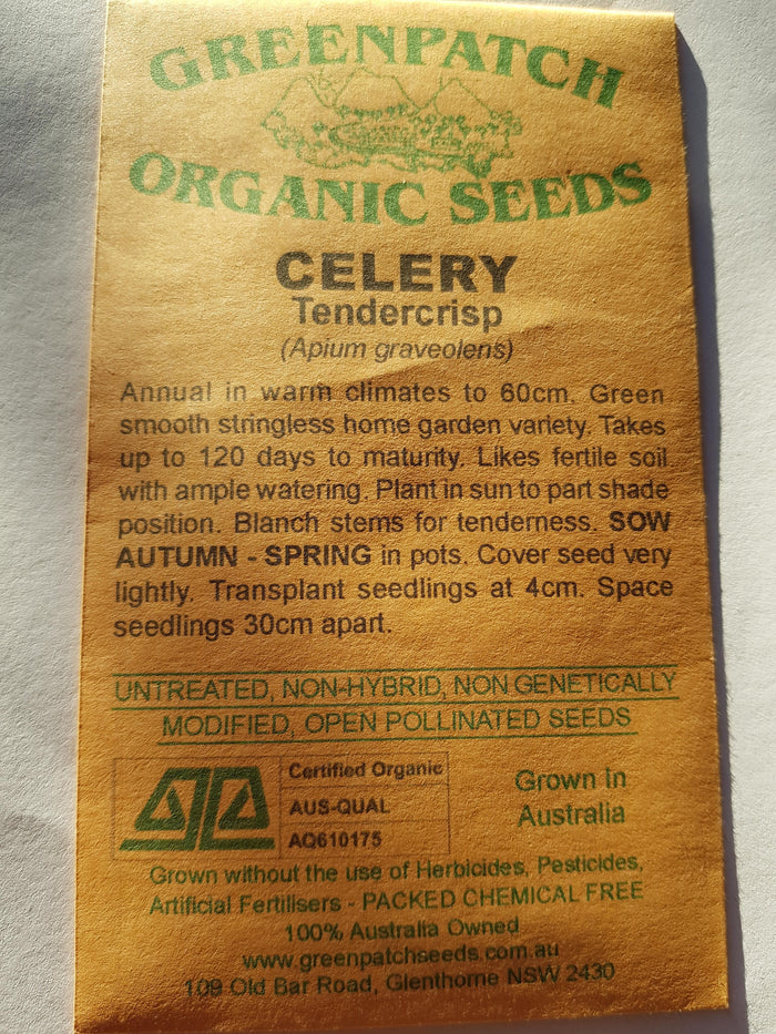 Green Patch Organic Seeds - Celery