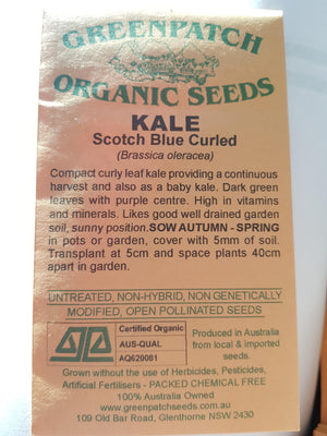Green Patch Organic Seeds  - Kale