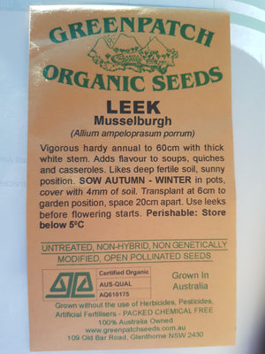 Green Patch Organic Seeds  - Leek